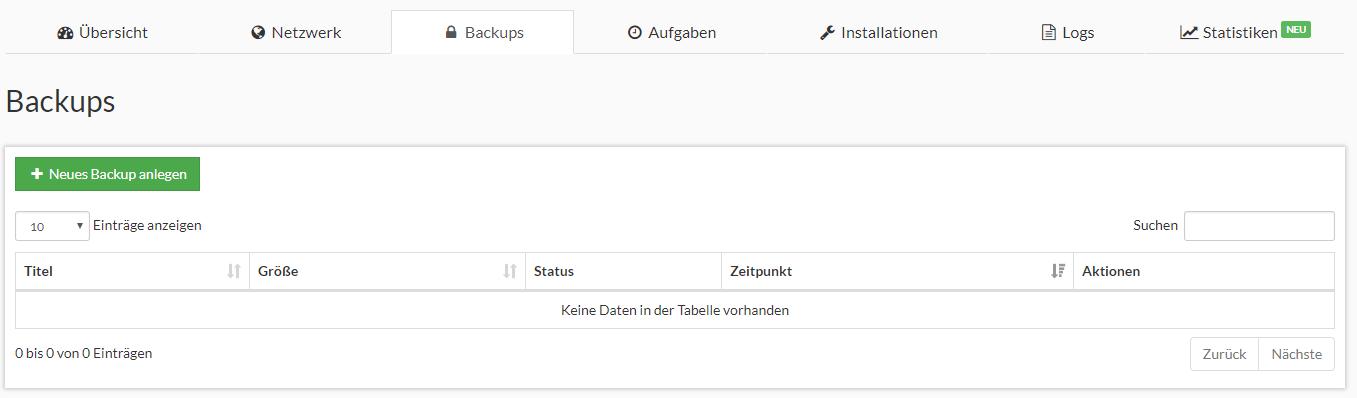 Prepaid SSD KVM Rootserver Webinterface Screenshot 3