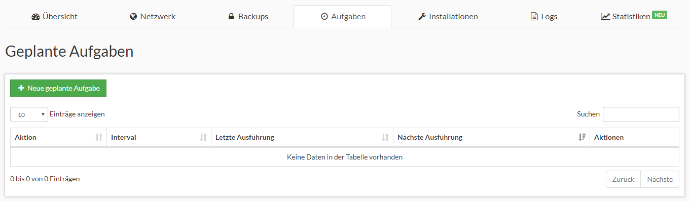 Prepaid SSD KVM Rootserver Webinterface Screenshot 4