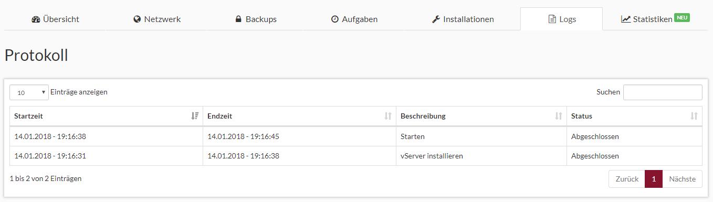 Prepaid SSD KVM Rootserver Webinterface Screenshot 6