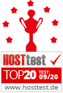 Hosttest - TOP20 im Februar 2020