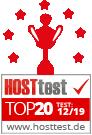 Hosttest - TOP20 im August 2019