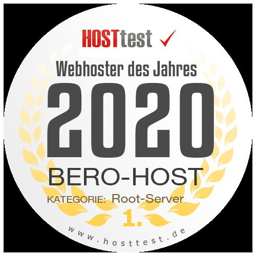 Webhoster des Jahres 2020 - Rootserver