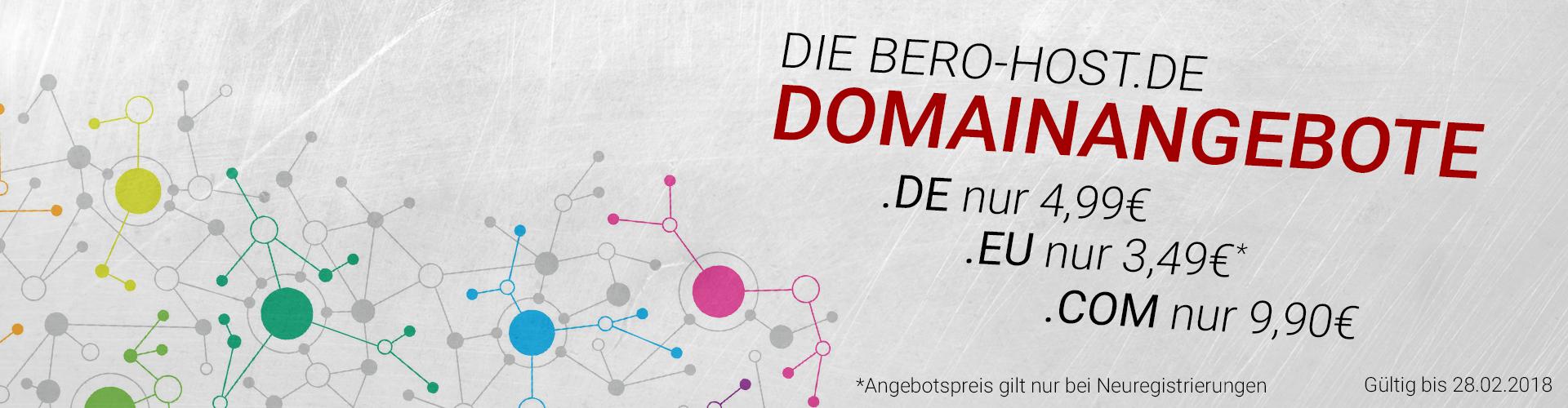 Günstige Domains ab 3,49€ im Jahr