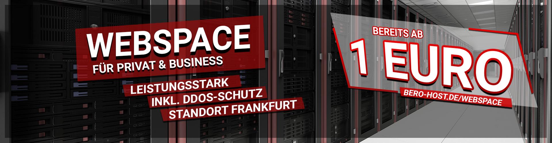Günstige Prepaid Webspace Pakete ab 1,00€ pro Monat